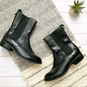 Lauren Ralph Lauren Mona Leather Ankle Boots 6.5
